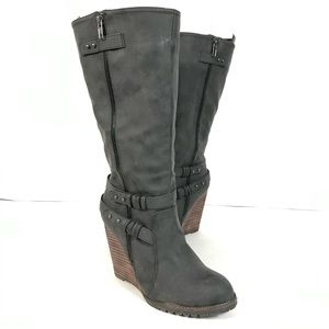 Very Volitale Kearney Tall Wedge Boot faux suede